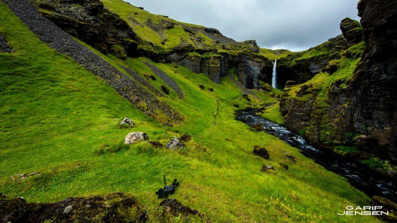 Iceland-hidden-waterfall-near-skogafoss