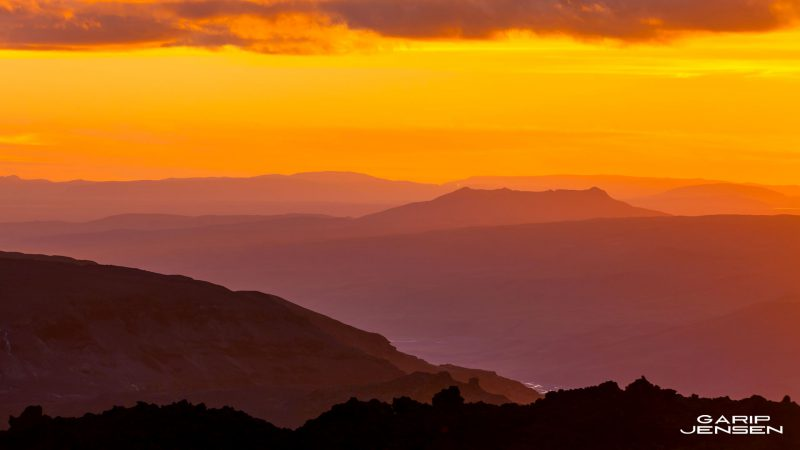 Iceland-sunset-thorsmork-skogar-walk