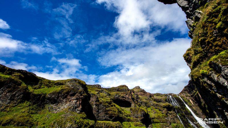 Iceland-wide-angle-glymur-waterfall