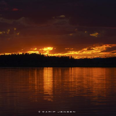 sunset-at-norrland-Sweden