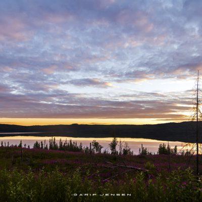 sunset-up-north-Sweden