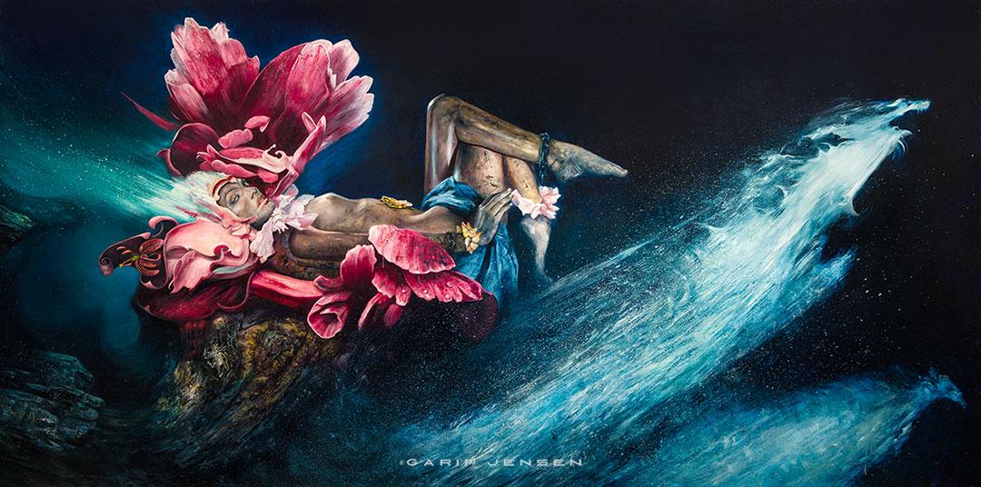 Oljemålning av Garip Jensen - Chapter four.